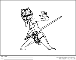 Star Wars Coloring Pages Ahsoka Tano