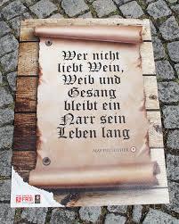 Luther Sprüche Bodenplakate Reformations Jubiläum