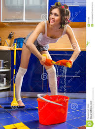 Kitchen Floor Cleaners Woman Cleaning Kitchen Floor Royalty Free Stock Photo Image