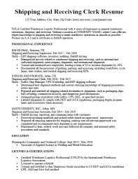 Receiving Clerk Resume