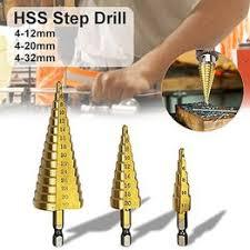 3Pcs HSS Titanium Coated Straight Flute Step Drill Bits Hole ... - Vova