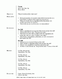 Pre Made Resumes Resume Sample