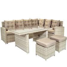 grey rattan garden dining sets. charles-bentley-6-seater-rattan-garden-dining-set- grey rattan garden dining sets y