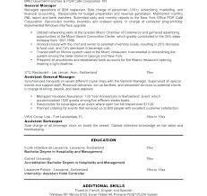 Sample Hotel General Manager Resume Hotel Manager Resume Template Englishor Com