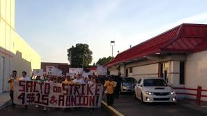 Mixed messages sent at Sacramento fast-food protest