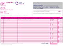 sponsorship forms for fundraising fundraising ideas race for life cancer research uk