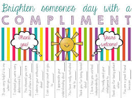 Compliment Circle Tear Offs Freebie Kindness Activities