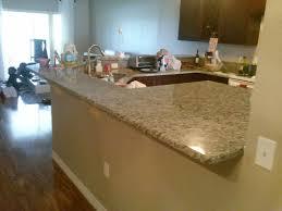 granite countertop overhang