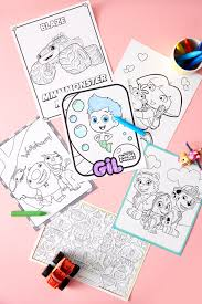 Nick Jr Birthday Party Coloring Printables Nickelodeon Parents