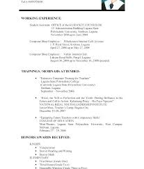 Samples Of Resumes For Highschool Students Resume For Highschool Students With Experience No High School On