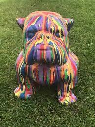 english bulldog statue life size