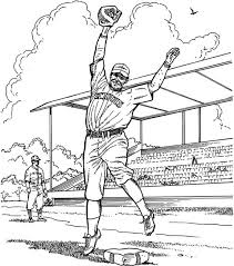 Small Picture baseball game coloring pages Pitcher Baseball Coloring Page