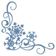 Silhouette Design Store View Design 104278 3 Snowflake Corner Border