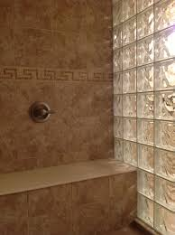 glass block shower wall dublin ohio mediterraneen salle de bain