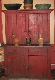 Antique Cupboard Designs Beautiful Red Step Back Cabinet Hmmm The Bottom Half Looks