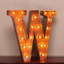 24 marquee letter lights 24 letter w lighted vintage marquee letters with screw on sockets 1 v=
