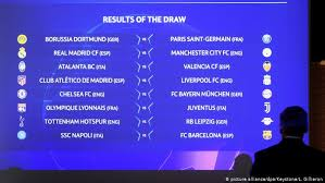 The draw included some teams taking part in the second qualifying round on 20/21. Champions League Draw Bayern Munich Get Chelsea In 2012 Final Rematch Sports German Football And Major International Sports News Dw 16 12 2019