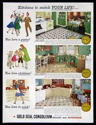 1940 Kitchen Decor The Beautiful World Of 1940s Linoleum Flooring The Vintage Inn