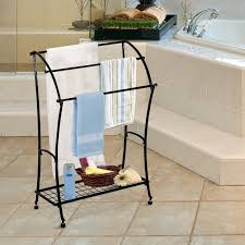 towel holder stand. HOMCOM Bathroom Floor Towel Holder Free Standing Rack Stand Black N