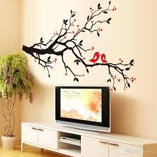 wall stickers tree tree branch birds love wall sticker tree vinyl wall decal stickers home decoration