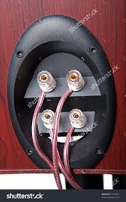 bi wiring speakers bi image wiring diagram biamp biwire speakers stock photo 13795912 shutterstock on bi wiring speakers