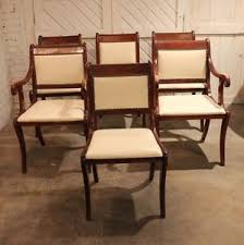 Image Is Loading SixVintageRegencyStyleDiningChairswithWhite Regency Style Furniture H6