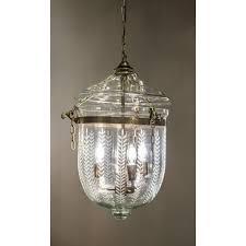 emac lawton bell jar med in brass w leaf cut glass