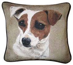 Jack Russell Tapestry Dog Cushions http://www.abentleycushions.co.uk