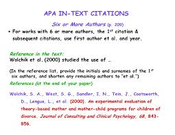 Apa Citation In Text 95 Apa Format In Text Citation With More Than One Author