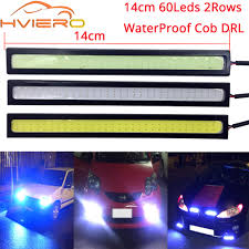 Diy Running Lights 2pcs 12v Led Cob Car Auto Drl Driving Daytime Running Lamp