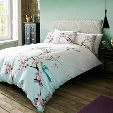 japanese duvet cover set branch of a flourishing sakura tree flowers cherry blossom