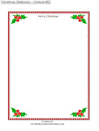 Christmas Letterhead Template Wsopfreechips Co