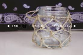 Mason Jars Decorated With Twine DIY Knotted Fish Net Mason Jar UO Inspired YouTube 43