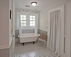 image of clawfoot tub shower curtain rod height