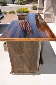 gorgeous pallet wood rolling bar diy bars diy patio bar l20