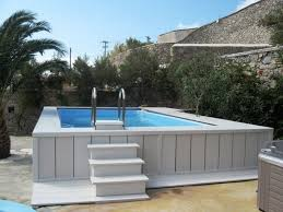 best rated rectangle above ground pool for superb backyard ideas