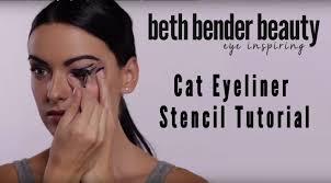 eyeliner stencils eye makeup stencil tutorial cat eyeliner winged eyeliner beth bender beauty you