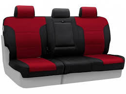 coverking second row red neoprene seat covers