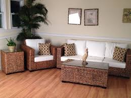Seagrass Living Room Furniture Small Living Room Design Taupe Fabric Armchair Round Seagrass