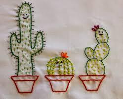 Cactus Embroidery Pattern Unique Design Inspiration