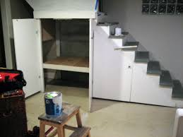 Unfinished Basement Storage  New Basement Ideas  Easy Basement - Unfinished basement stairs