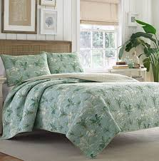 tommy bahama green palm tree quilt hawaiian bedroom decor