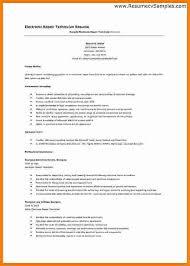 Electronics Technician Resume Samples 8 Electronics Technician Resume Penn Working Papers