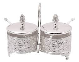 cly italian silver plated 2 bowl pickle set collections at ekaani mumbai italiansilver silverware gifts ekaani mumbai