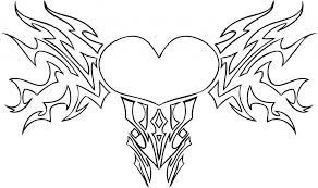 Small Picture Cool heart coloring pages