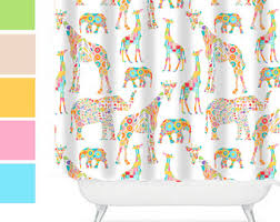 cool shower curtains for kids. Elephant Shower Curtain Kids Bathroom Decor Colorful Cool Curtains For S