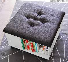 diy storage ottoman refurbished ideas