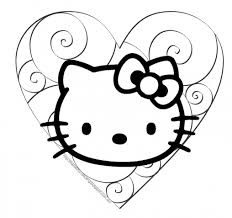 Small Picture Coloring Pages Cute Cat Coloring Pages Bestofcoloring Cute Kitty