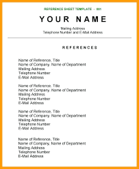 How To Write A Reference Page For A Resume Foodcity Me