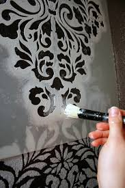 i finally stenciled a wall with this gorgeous pattern in